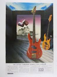 yamaha rbx zeppy io 11x16 retro magazine advert 1987 yamaha rbx bass £10 00