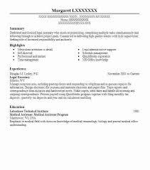 Legal Assistant Sample Resume Legal Secretary Resume Legal Assistant