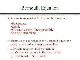 simplified bernoulli equation. 5 bernoulli equation assumptions simplified