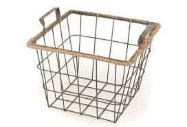 Metal Wire Basket With Jute- Small