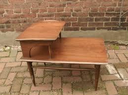 vintage 's  tier end table danish modern furniture mid