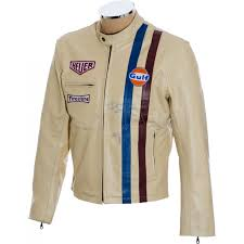 steve mcqueen le man cream le man leather jacket