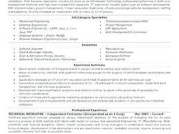 Non It Recruiter Resume National Recruiter Resume Sales Resume