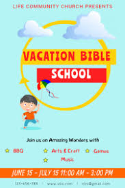 Vbs Certificate Template 50 Vbs Customizable Design Templates Postermywall