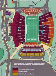 Virginia Tech Football Stadium Seating Chart Google Search
