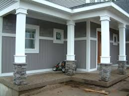porch column wraps. Column Covers Exterior Porch Post Wraps Attractive Image Of Front Decoration Using Grey Pillar .