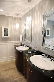 bathroom large size luxurious crystal of the bathroom pendant lighting above double sink vanity with