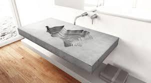 Tom Vacekhas' wall-mounted concrete bathroom sink for Gravelli
