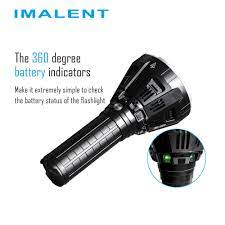 IMALENT MS12 Yüksek Lümen El Feneri 12 x CREE XHP 70 Led max 53000LM ışın  atmak 913 metre açık arama torch pil paketi ile|Flashlights & Torches