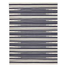 aura stripe indoor outdoor rug 8x10 navy