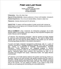 federal resume federal resume template 10 free samples examples format intended for