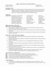 50 Inspirational Sample Resume For Maintenance Technician Resume
