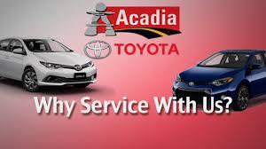 Repair & Maintain Your Car At Acadia Toyota's Service Department ...