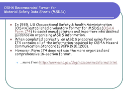 osha form 174 hazard communication employee right to know ppt download