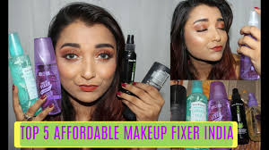 top 5 favourite best makeup fixing spray setting spray in india affordable makeup fixer