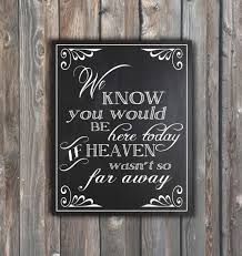 Who S Here Today Chart Printable Wedding Memorial Sign We Know You Would Be Here Today