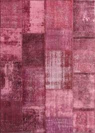 rugsville vintage turkish over dyed patchwork deep plum rug 11074 11074