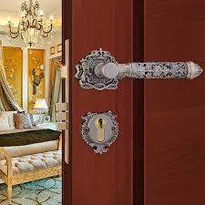 N GOLD COLOR ZINCALLOY MATERIAL ROSSETTE FANCY DOOR HANDLE