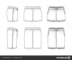 Shorts Design Template Best Hd Shorts Outline Template Vector File Free Vector