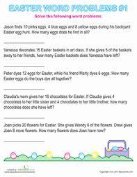word easter egg easter word problems 1st grade worksheets education com