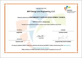 Mvp Design And Engineering Llc Certificate 2018 Mvp Plastics