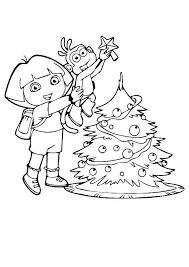 Dora Printable Colouring Pages Winter Boots Coloring Page Dora