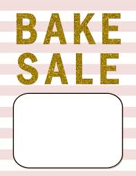 021 Blush Pink And Gold Bake Sale Flyer Template Free Design