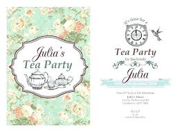 Tea Party Invitations Free Template Alice In Wonderland Party Invitations Template Free