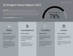Project Progress Report Sample Quarterly Project Status Progress Report Template