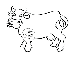 Cow Coloring Pages For Kids Printable Coloring Picture Of Apple Cow