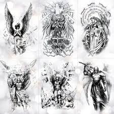 крыло святой ангел водонепроницаемый временные татуировки наклейки храбрый