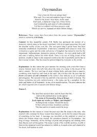 ozymandias essay question ozymandias phpapp thumbnail jpg cb essays and papers