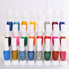 Nail Designs With Stripers Us 4 21 19 Off Colorful Nail Art Striper Pen 24pcs Lot 2 Way Nail Polish Glitter Canetinhas Coloridas Nail Brush Set In Nail Polish From Beauty