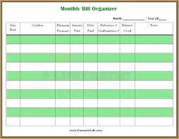 Bill Payment Organizer Template Bill Payment Organizer Readstrong Co