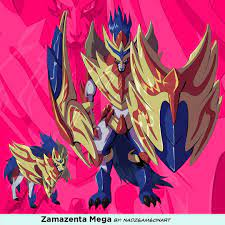 Zamazenta Mega | Mega evolution, Mega evolution pokemon, Pokemon fusion art