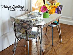 Vintage table and chairs Oak Restoring My Vintage Childhood Chrome Table And Chairs Was Labor Of Love This Sweet Grateful Prayer Thankful Heart Vintage Childhood Chrome Table And Chairs Restoration Grateful
