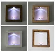 led floating wall cube box shelf shelves black white oak
