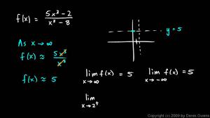 calculus 2 3b rational functions horizontal asymptotes