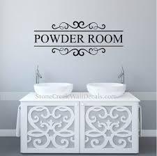 powder room decal bathroom wall decor restroom wall decal powder room bathroom wall decals bathroom wall art decor