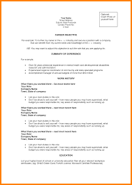 Examples Of Resume Objective 60 example of career objectives gcsemaths revision 33