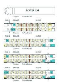 Eurostar Seating Plan To Brussels Seats