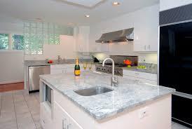 lovely white quartzite countertops