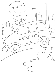 Small Picture Police petrol car on road coloring page Download Free Police