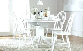 distressed white round dining table set ikea sets for modern computer desk kitchen glamorous