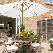 furniture for small patio. 5 Patio-with-wooden-furniture-small-garden-ideas-Robert Furniture For Small Patio