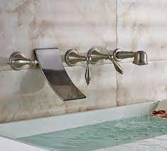 wall mount waterfall tub faucet with