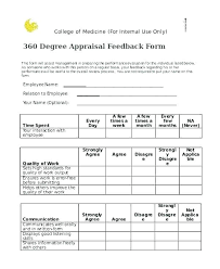Performance Appraisal Sample Form Free Appraisal Template Free Performance Review Template
