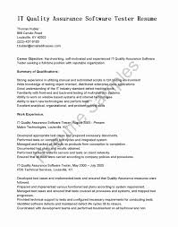 Software Testing Experience Resume Format Inspirational Qa Job Cover