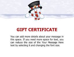 Gift Voucher Free Template 10 Printable Free Christmas Gift Certificates