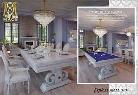 luxury dining pool table